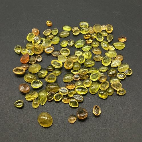 Yellow Tourmaline Plain Mix Shape Natural Gemstone Jewellery Making Shape