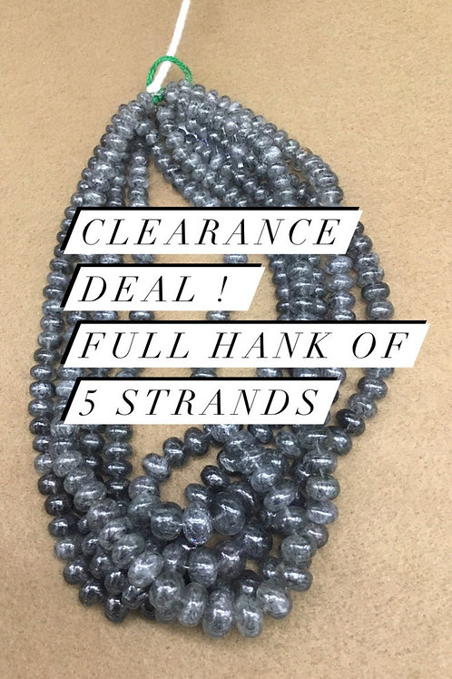 Closeout Sale price Black Rutile Smooth Beads 5 strands full hank wholesale