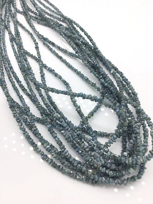 Blue Diamond uncut beads 1strand