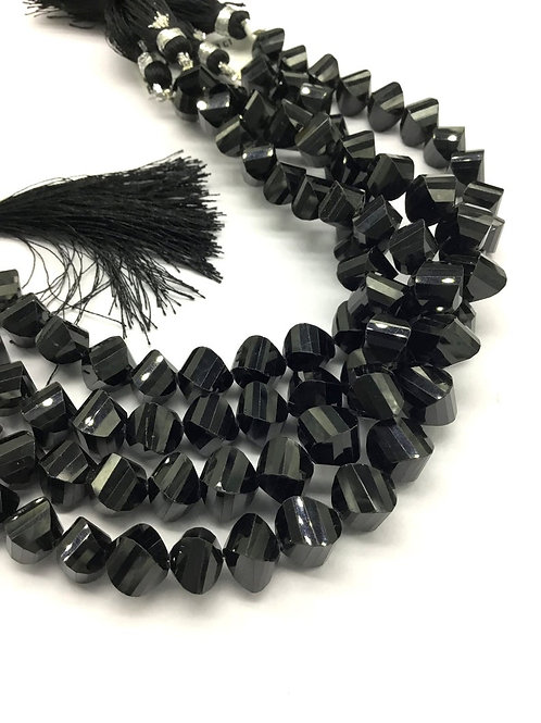 Black Spinal Fancy Cut Natural Gemstone necklace 8'' Top Quality Spinal Cut
