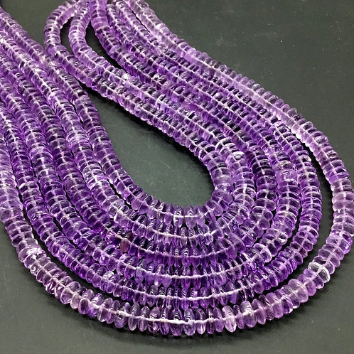 Pink Amethyst Smooth Tyre Natural Gemstone 16 '' Necklace Top Quality Shape