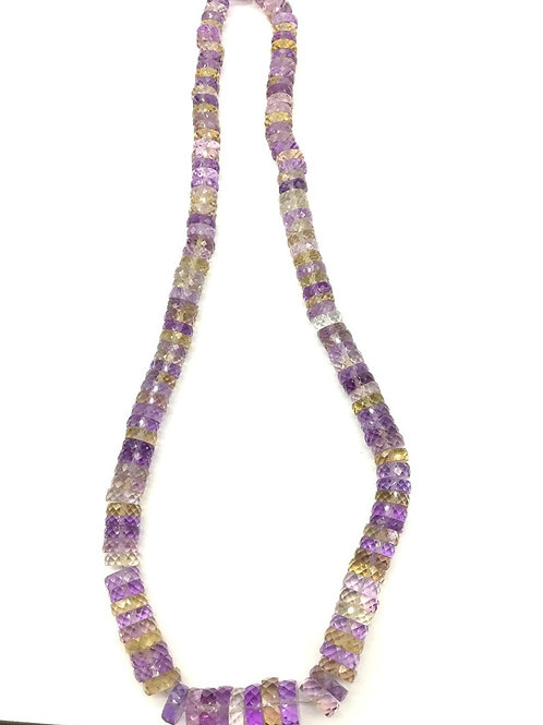 Ametrine 16 '' Faceted Tyre AAA + Top Quality AAA + 294.00 Ct 100 % Natural Gems