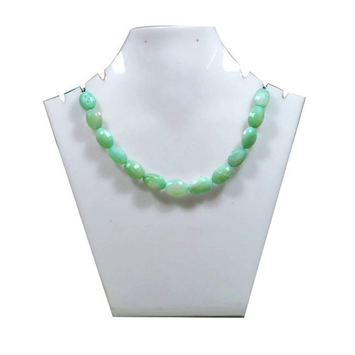 peru Blue Opal Peru -8'' Faceted Mani Gemstone 1 Strand Jewelry Beads