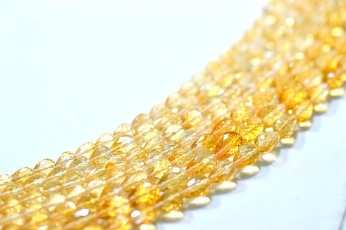 Citrine - 16'' Brazil Faceted Drops 1 Strand Gemstone Jewelry Beads
