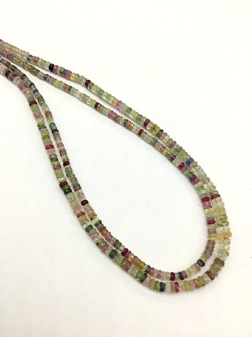 Multiple Mixed Gems Disco Beads 16'' Brazil Faceted Beads 1 Strand Gemstone