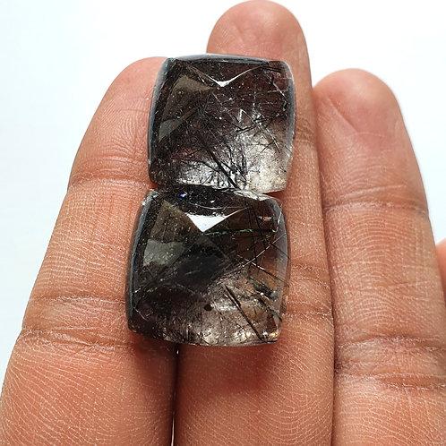 Black Rutile Sugarloaf AAA Quality Gemstone