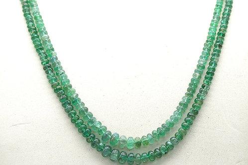 Emerald Beads zambia 16 '' Beads 114.70 ct 2 line Gemstone