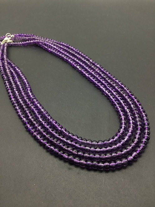 Amethyst Smooth Beads Top Quality Amethyst Beads Natural Gemstone beads 16''