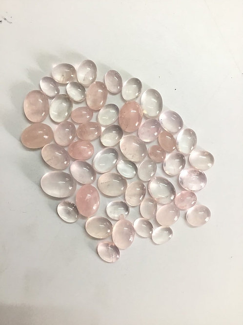 Rose Quartz Plain Cabs Oval shape Loose Gemstone 100% Natural 90 Pieces