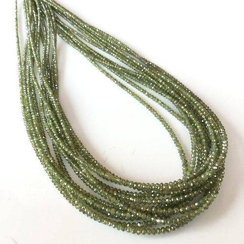 Green Diamond Faceted Beads Natural Gemstone
