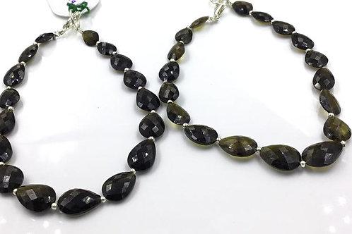 Tourmaline Drops Beads Faceted Multi Tourmaline Colours 74.85 carats
