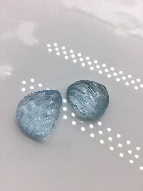 Blue Topaz Carving Natural Gemstone