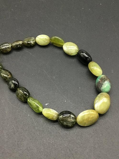 Multi Gemstone SALE Multiple Mixed Gems 7 '' plain Tumble Gemstone Necklace