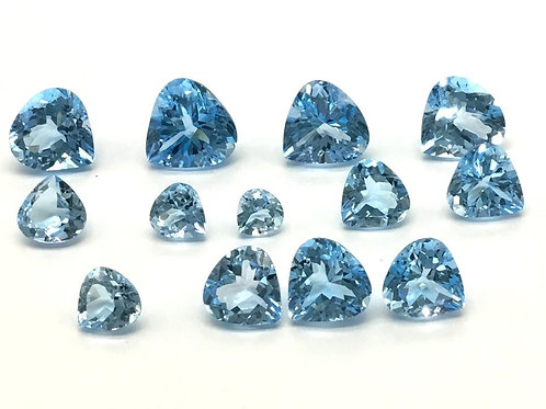 Blue Topaz Heart 5 Pieces ( 1 Quantity Lot ) Natural Gemstone Jewellery Making