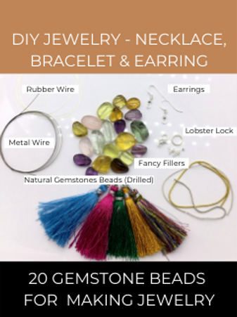 DIY Jewelry Making from Natural Gemstones Beads 20pieces