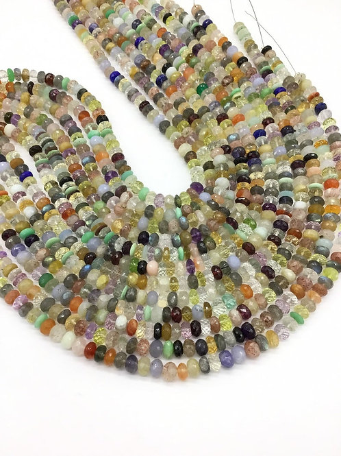 Multiple Mixed Gems Faceted Beads 1strand 193carats size-7to9MM All Natural