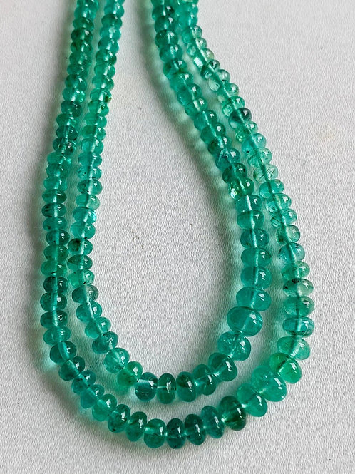 Colombian Emerald smooth beads. Fine quality emerald beads. 2-5 mm Emerald