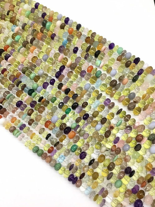 Mixed Gems Faceted Beads 1strand 325carats size-9to12MM All Natural