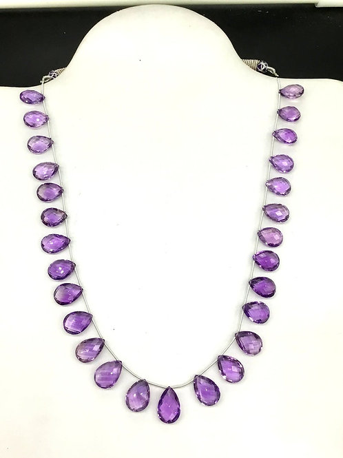 Pink Amethyst 16 '' Faceted Pear 100 % Natural AAA + Top Quality 193.85 Ct Gems