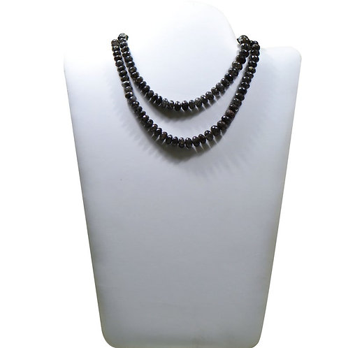 Black Rutile - 16'' Sri Lanka Faceted Beads Gemstone 1 Strand  Jewelry Beads