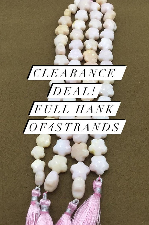 Closeout Sale price Pink Opal Plain FANCY 5 strands full hank wholesale closeout