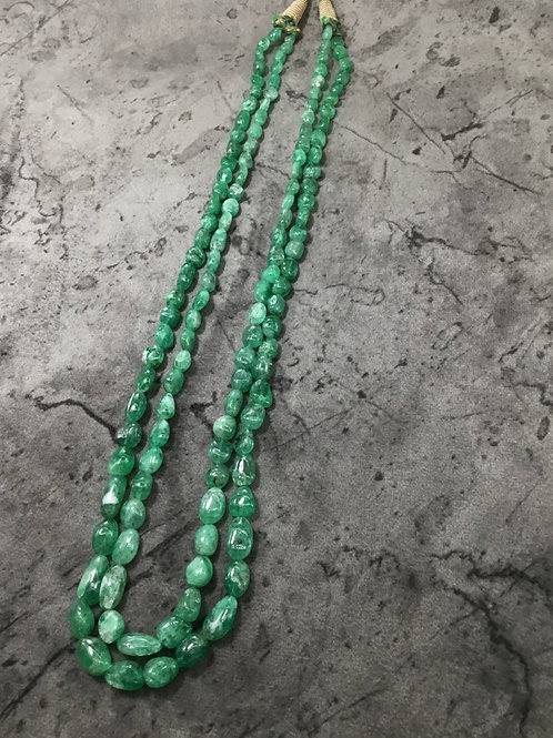 Emerald Tumbles Beads Naturalgemstone Necklace Gems for jewellery tumbled stones
