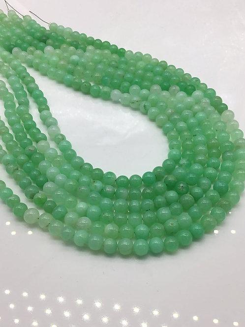 Chrysoprase Smooth Balls Shaded Gemstones Natural Chrysoprase Gemstone 1 Strand