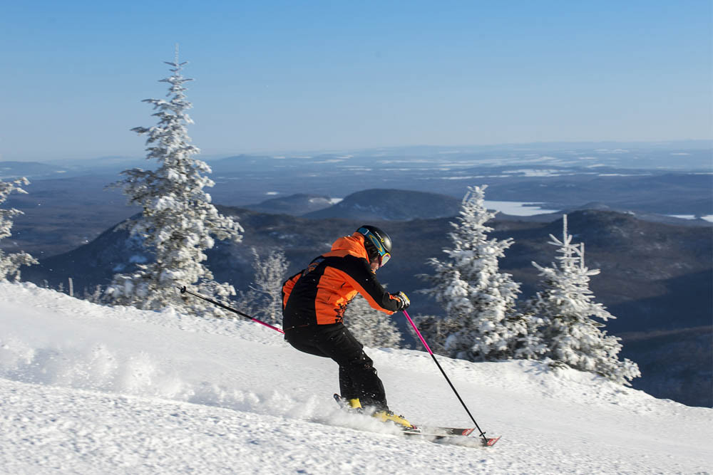 ski hill top places near montreal mont orford
