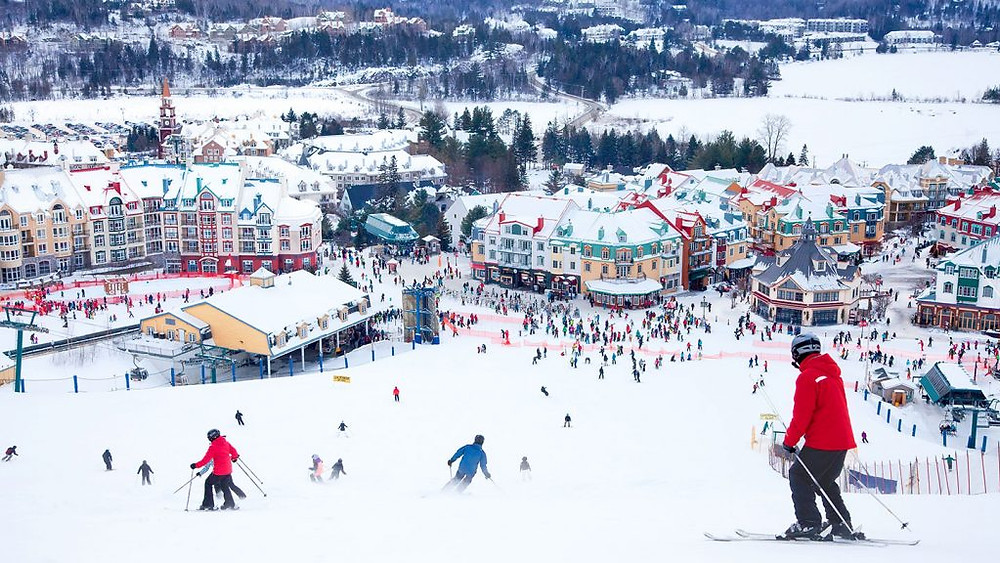 ski hill top places near montreal mont tremblant