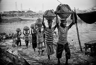 sand transporters at Buriganga riverbank