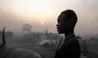 sunset at a mundari camp, South Sudan-30