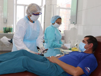 «30 добрых дел»: сотрудники МЧС России приняли участие в акции по сдаче донорской крови