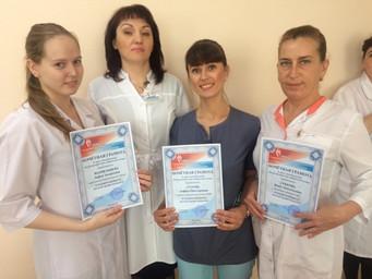 Поздравление медицинских сестер Кемеровского областного центра крови