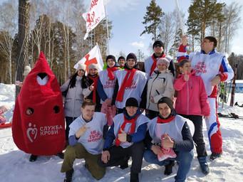 14 марта на Танае состоялись «Веселые старты» в поддержку безвозмездного донорства крови в Кузбассе