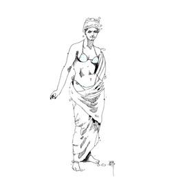 La venus helenistica en traje de baño