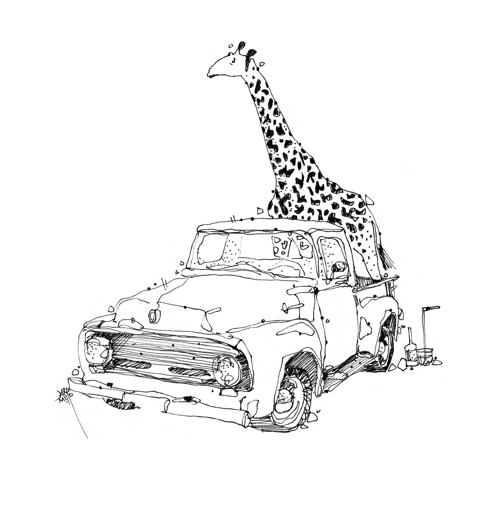 jirafa en copas