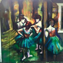 Garage Dancers Graffiti
