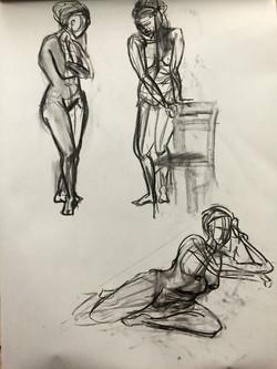 Sketching Charcoal Poses no.3
