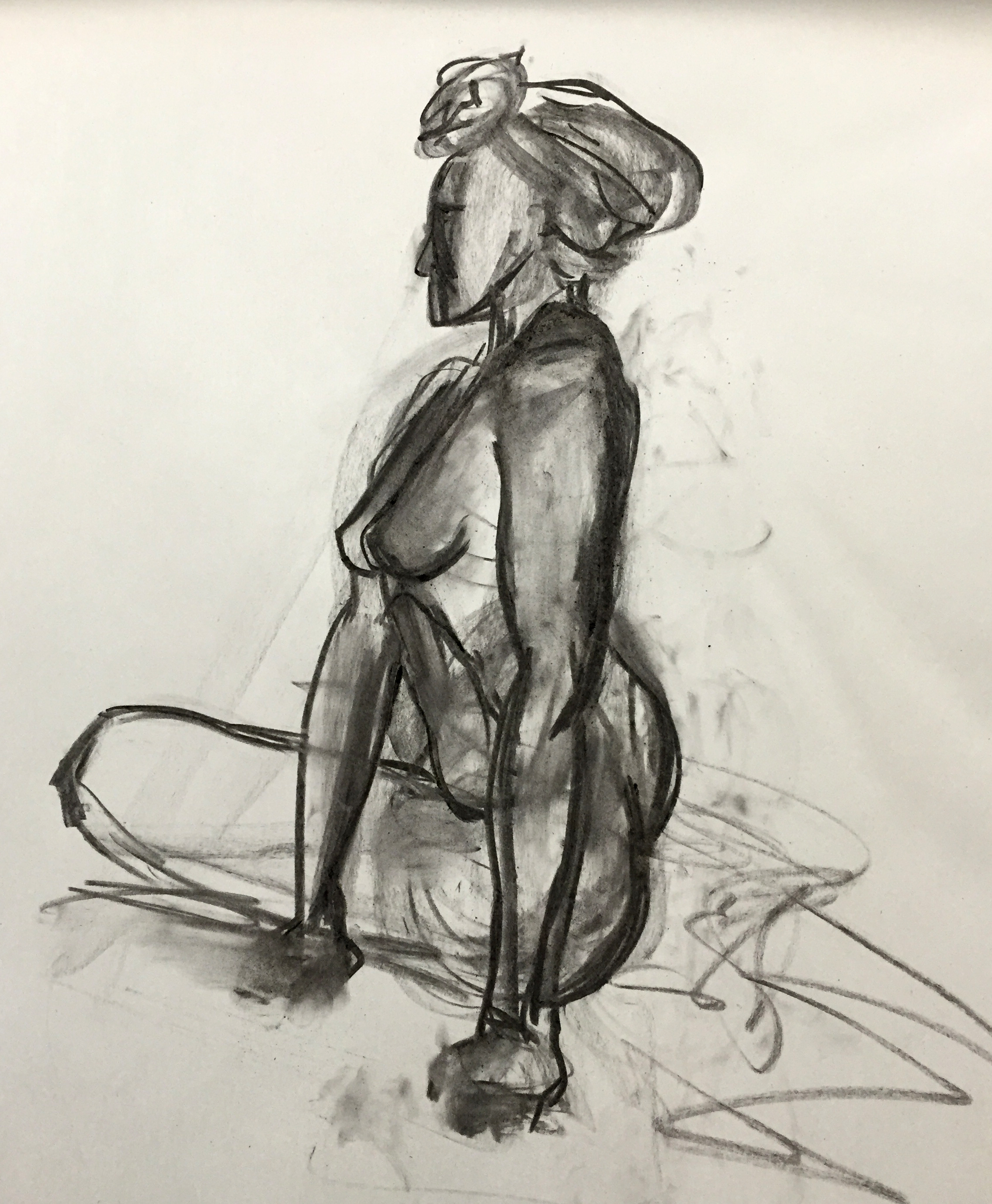 drawing charcoal pose no.1