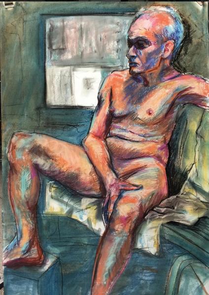Pastel Figure Study