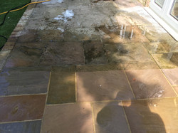 Patio cleaning slough