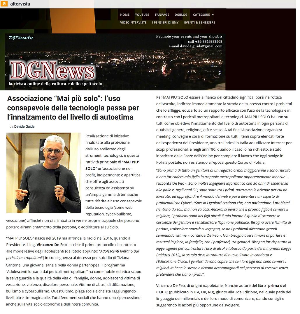 DG NEWS Altervista del 9 Luglio 2019