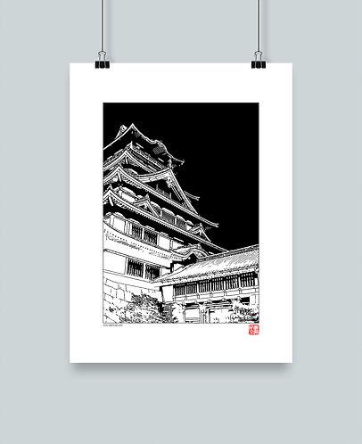 """Illustration """"Château Japonais"""""""