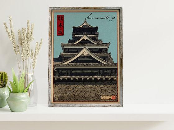 """Affiche """"Kumamoto"""""""