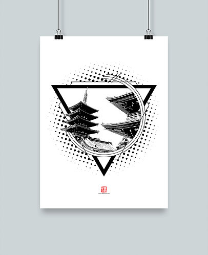 """Illustration """"Asakusa"""""""