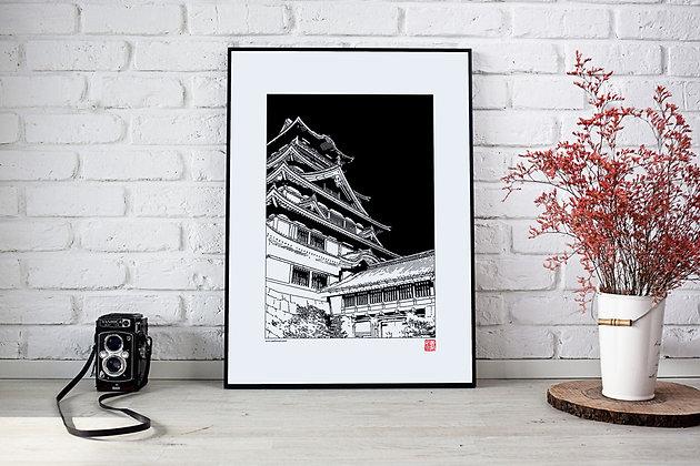 """Affiche """"Château Japonais"""""""