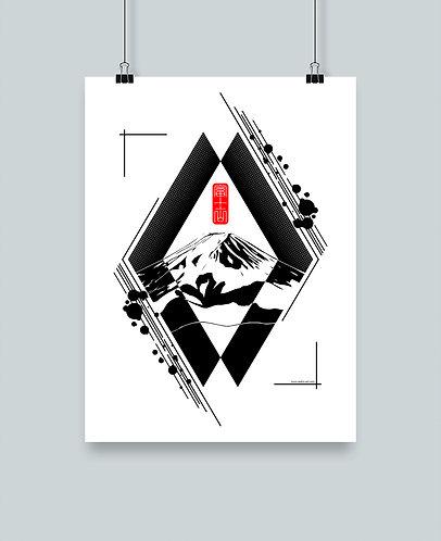 """Illustration """"Fuji san"""""""