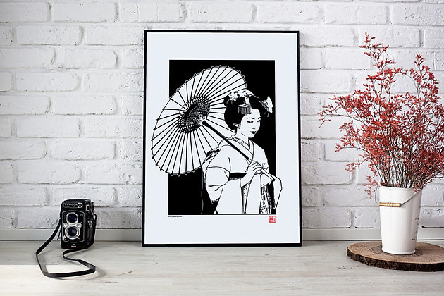 """Affiche """"Geisha"""""""