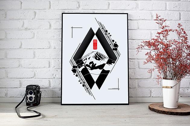"""Affiche """"Fuji san"""""""