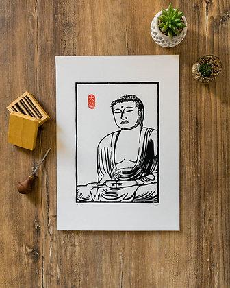 Linogravure Daibutsu